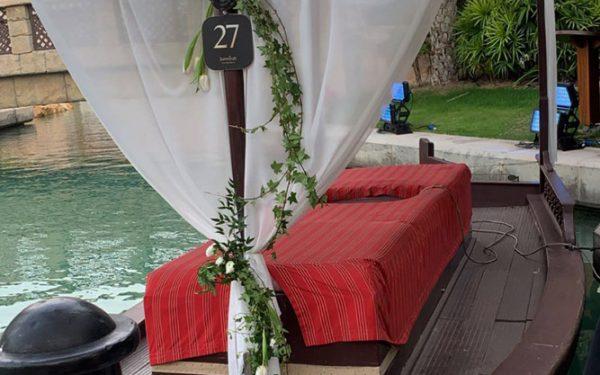 Boat Magnolia al qasr madinat Jumeirah wedding