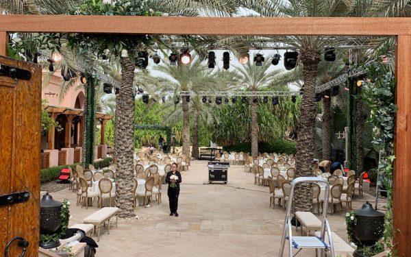 Door Magnolia al qasr madinat Jumeirah wedding