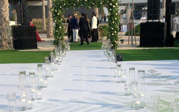 Ola Farahat Catwalk wedding at t Nikki beack Dubai