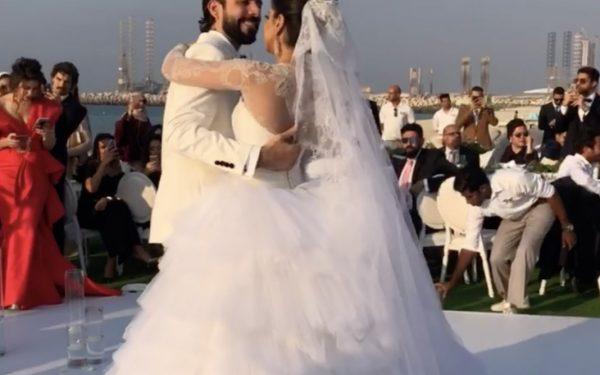 Ola Farahat wedding bridal dance floor nikki beach dubai