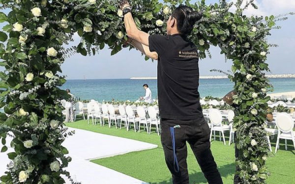 Ola Farahat wedding bridal isel nikki beach dubai