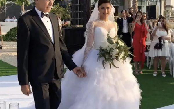 Ola Farahat wedding dress nikki beach dubai