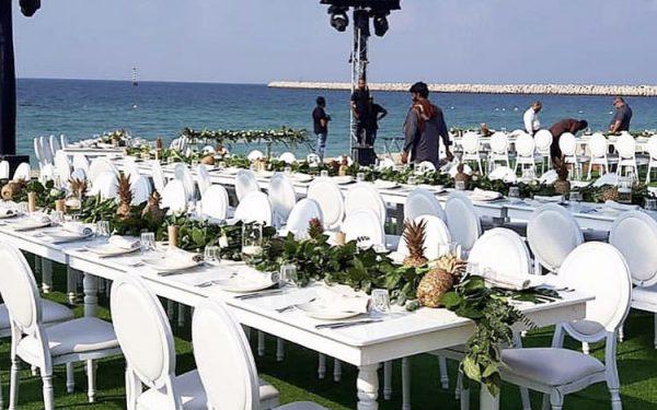 Ola Farahat wedding eventsmania setup nikki beach dubai