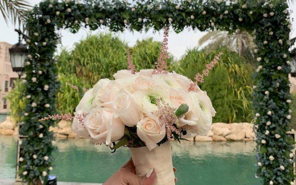 flower bouquet Magnolia al qasr madinat Jumeirah wedding