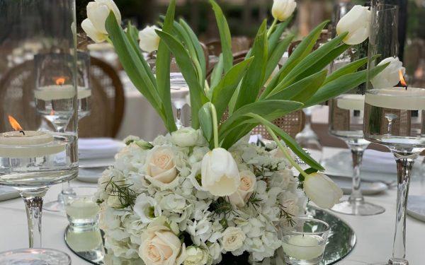 flower centerpiece Magnolia al qasr madinat Jumeirah wedding