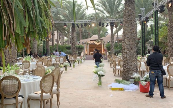 table and chairs Magnolia al qasr madinat Jumeirah wedding